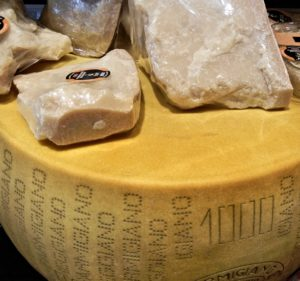 Parmigiano cheese wheel